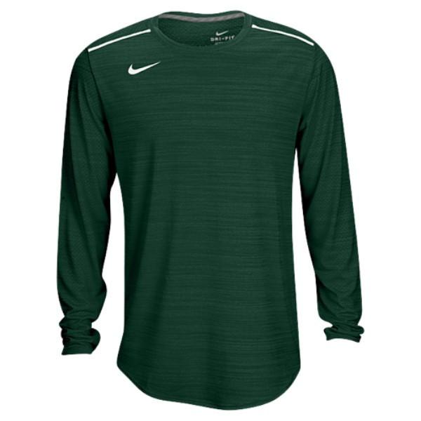 ナイキ メンズ トップス 長袖Tシャツ【Team Sideline Breathe L/S Poly Top】Gorge Green/White