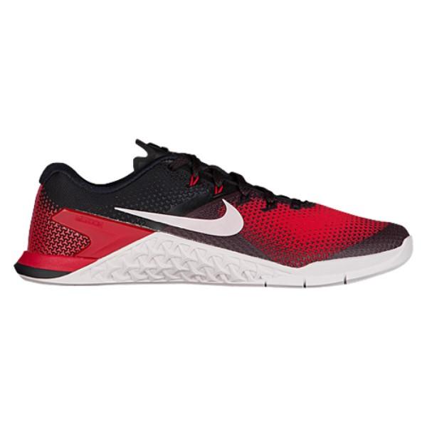 ナイキ メンズ フィットネス・トレーニング シューズ・靴【Metcon 4】Black/Vast Grey/Hyper Crimson