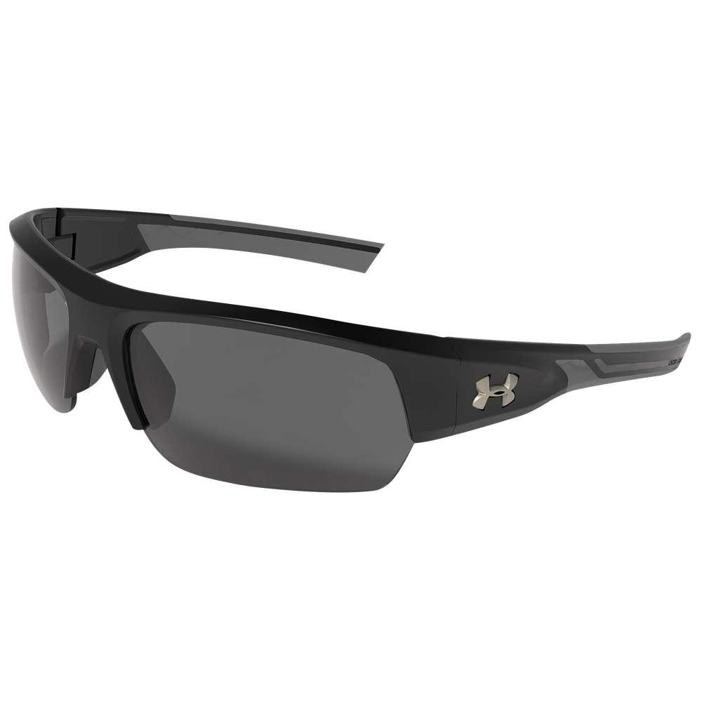 アンダーアーマー ユニセックス スポーツサングラス【Big Shot Sunglasses】Black/Charcoal/Grey Lens