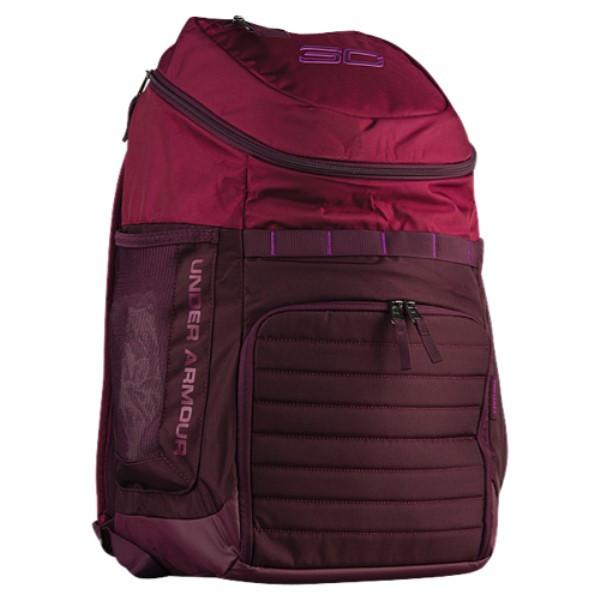 アンダーアーマー ユニセックス バッグ バックパック・リュック【SC30 Undeniable Backpack】Black Curant/Raisin Red