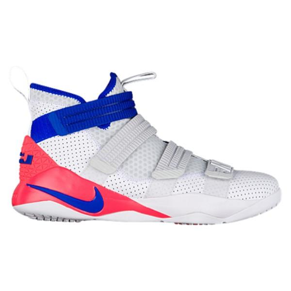 ナイキ メンズ バスケットボール シューズ・靴【LeBron Soldier 11 SFG】White/Racer Blue/Infrared/Pure Platinum
