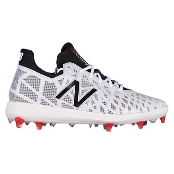 ニューバランス メンズ 野球 シューズ・靴【COMPV1 TPU Low】White/Black