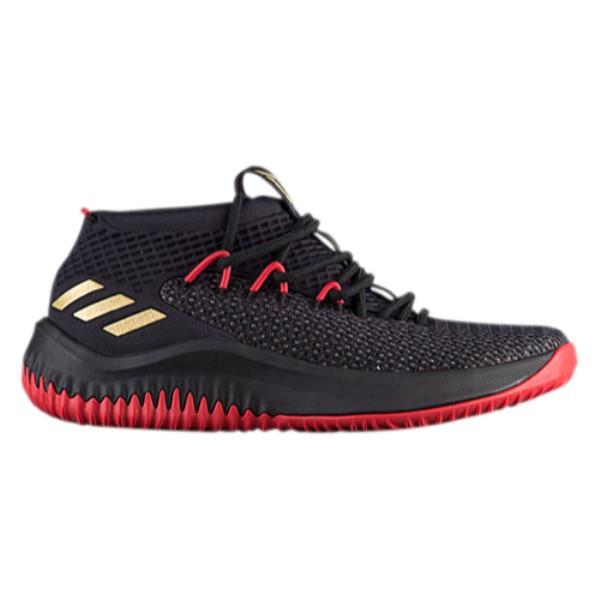 アディダス メンズ バスケットボール シューズ・靴【Dame 4】Black/Gold/Scarlet