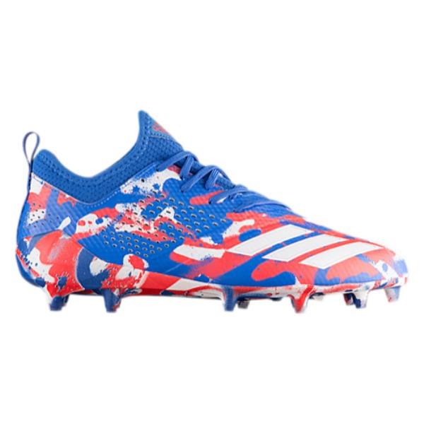 アディダス メンズ アメリカンフットボール シューズ・靴【adiZero 5-Star 7.0 Tagged Camo】White/Hi-Res Red/Hi-Res Blue
