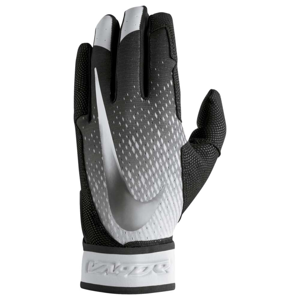 ナイキ メンズ 野球 グローブ【Vapor Elite Batting Gloves】Black/Black/Metallic Silver