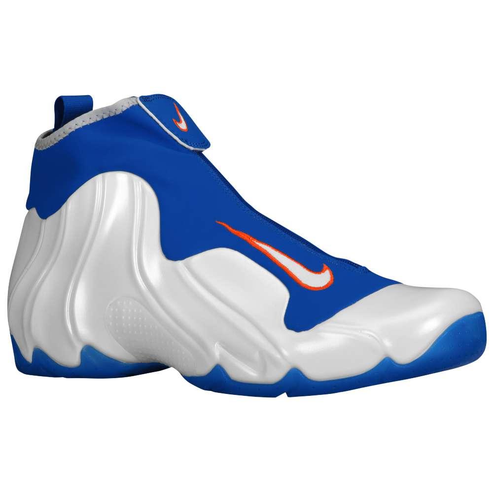 ナイキ メンズ バスケットボール シューズ・靴【Air Flightposite】White/Game Royal/Team Orange