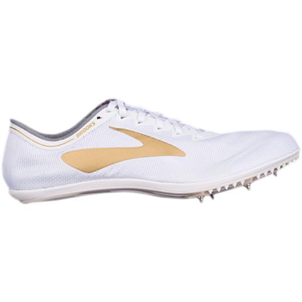 ブルックス メンズ 陸上 シューズ・靴【The Wire v5】White/Gold