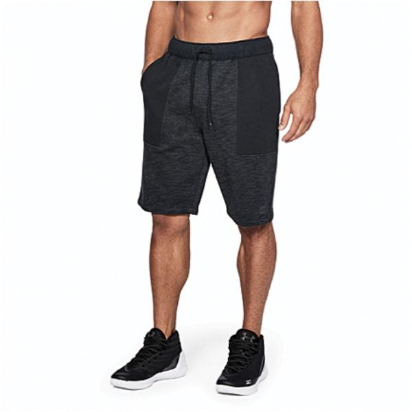 アンダーアーマー メンズ バスケットボール ボトムス・パンツ【Baseline Fleece Shorts】Black/Stealth Grey