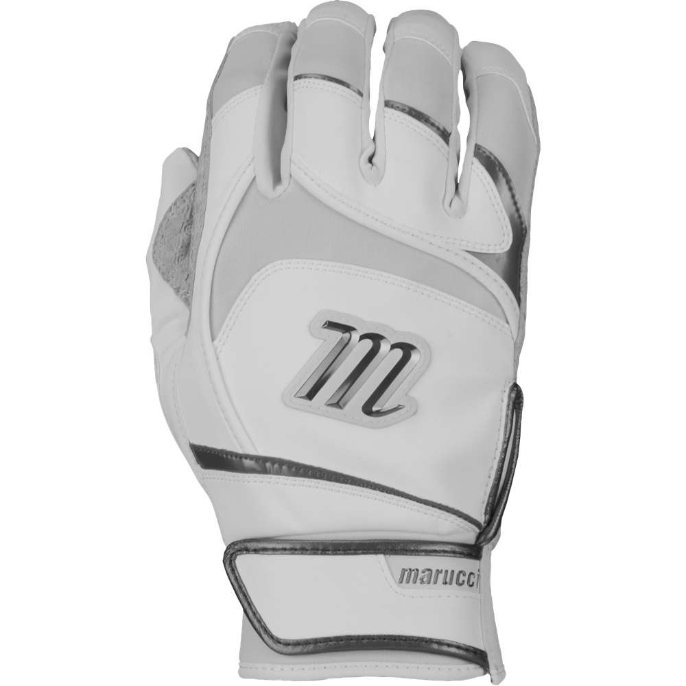 マルッチ メンズ 野球 グローブ【Pittards Signature Batting Gloves】White/Silver