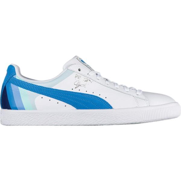 プーマ メンズ バスケットボール シューズ・靴【Clyde】White/Blue