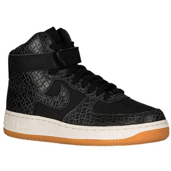 ナイキ レディース バスケットボール シューズ・靴【Air Force 1 High】Black/Black/Gum Med Brown/Sail