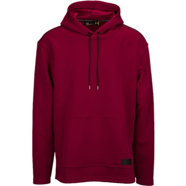 アンダーアーマー メンズ トップス パーカー【Pursuit Open Space Hoodie】Black Currant/Black Currant/Black