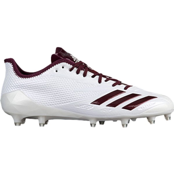 アディダス メンズ アメリカンフットボール シューズ・靴【adiZero 5-Star 6.0】White/Maroon/Maroon