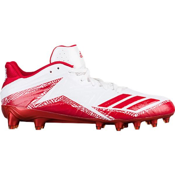 アディダス メンズ アメリカンフットボール シューズ・靴【Freak x Carbon Low】White/Power Red/Power Red
