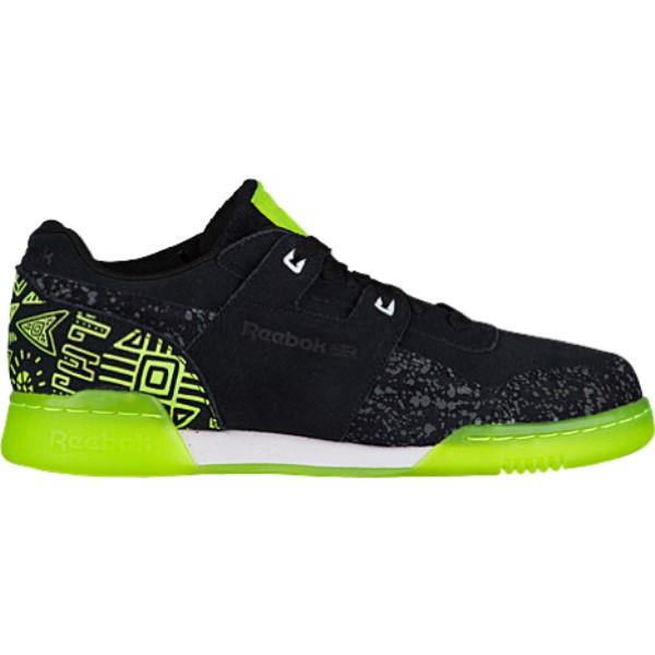 リーボック メンズ フィットネス・トレーニング シューズ・靴【Workout Plus】Black/Solar Yellow/White