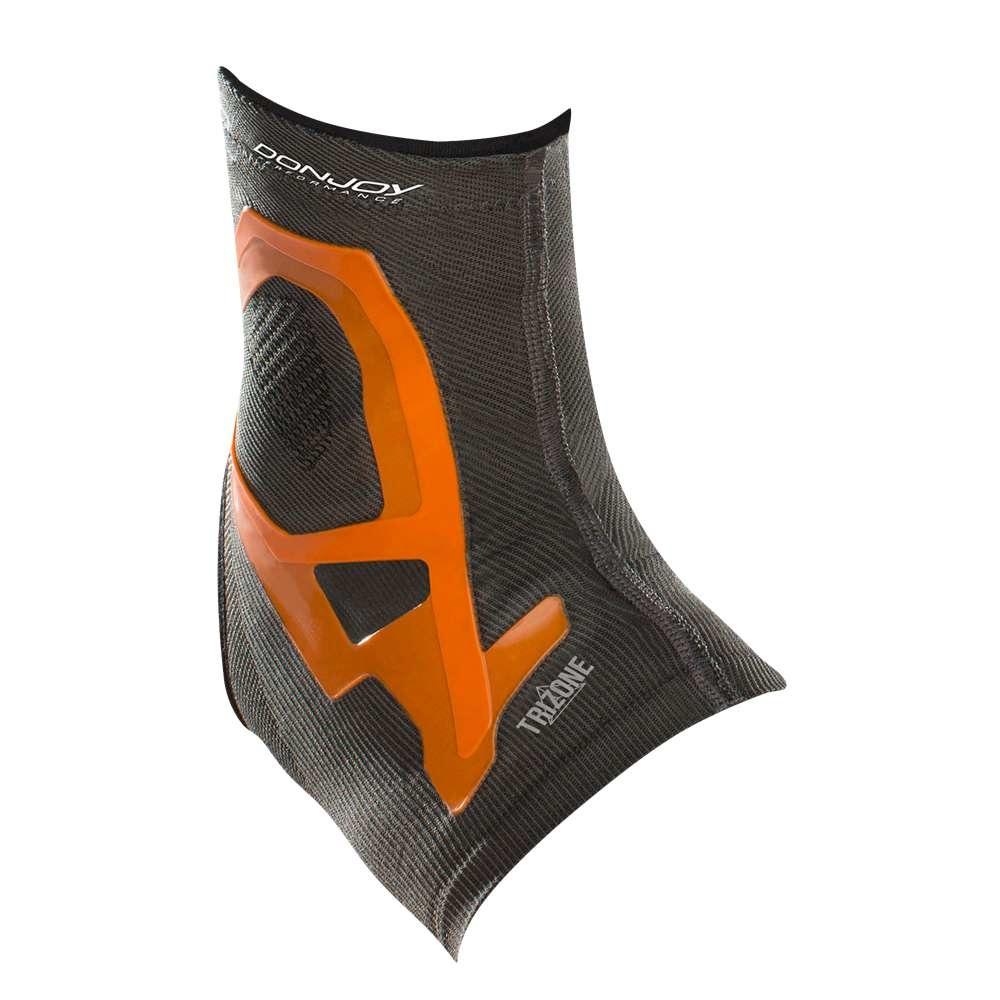 ドンジョイパフォーマンス ユニセックス フィットネス・トレーニング サポーター【Trizone Ankle Brace】Charcoal/Orange