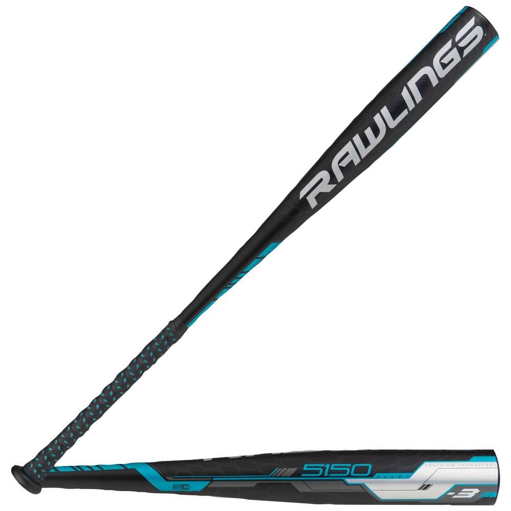 ローリングス メンズ 野球 バット【5150 BBCOR Baseball Bat】Black/Blue/White