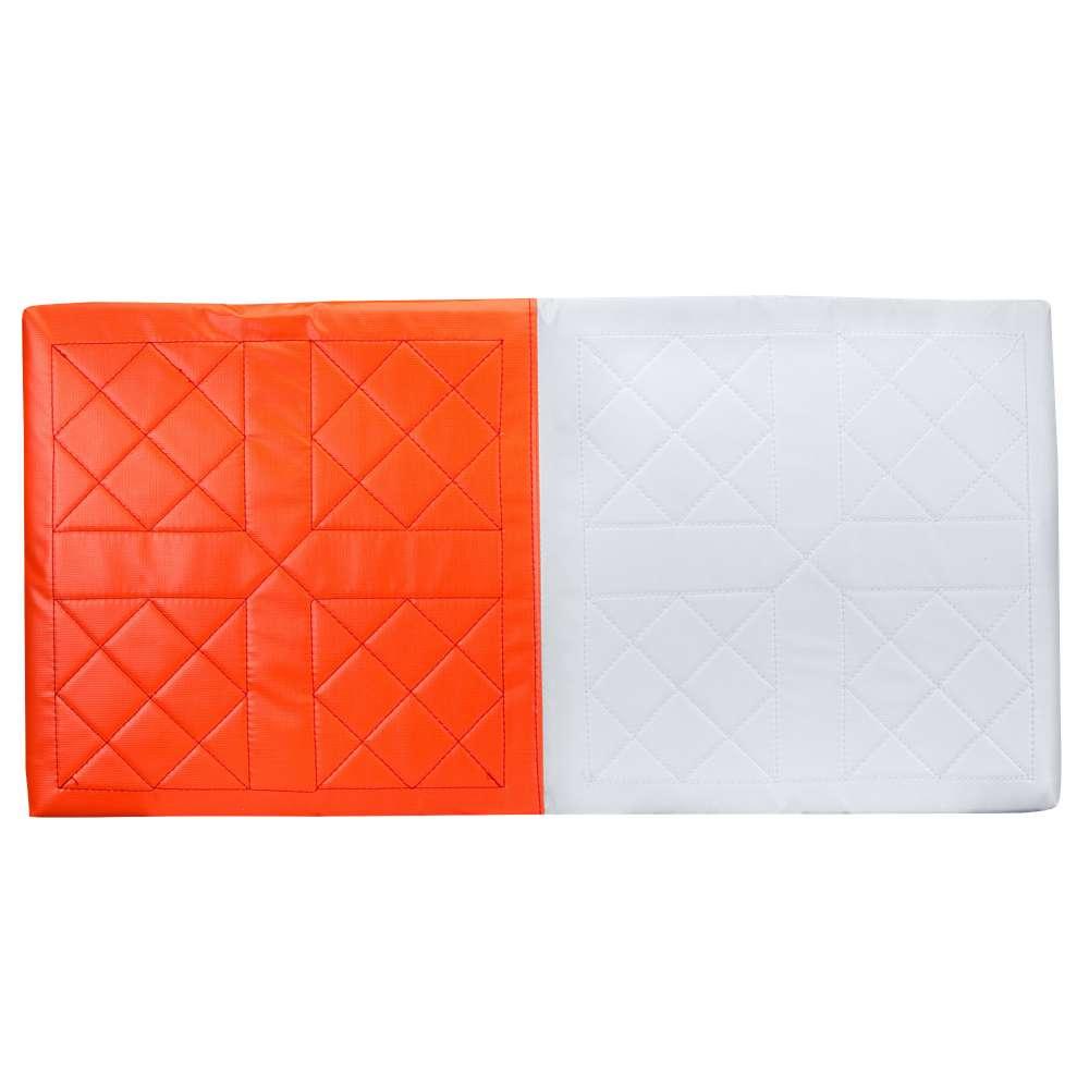 チャンプロ ユニセックス 野球【Nylon Quilted Double First Base】Orange/White