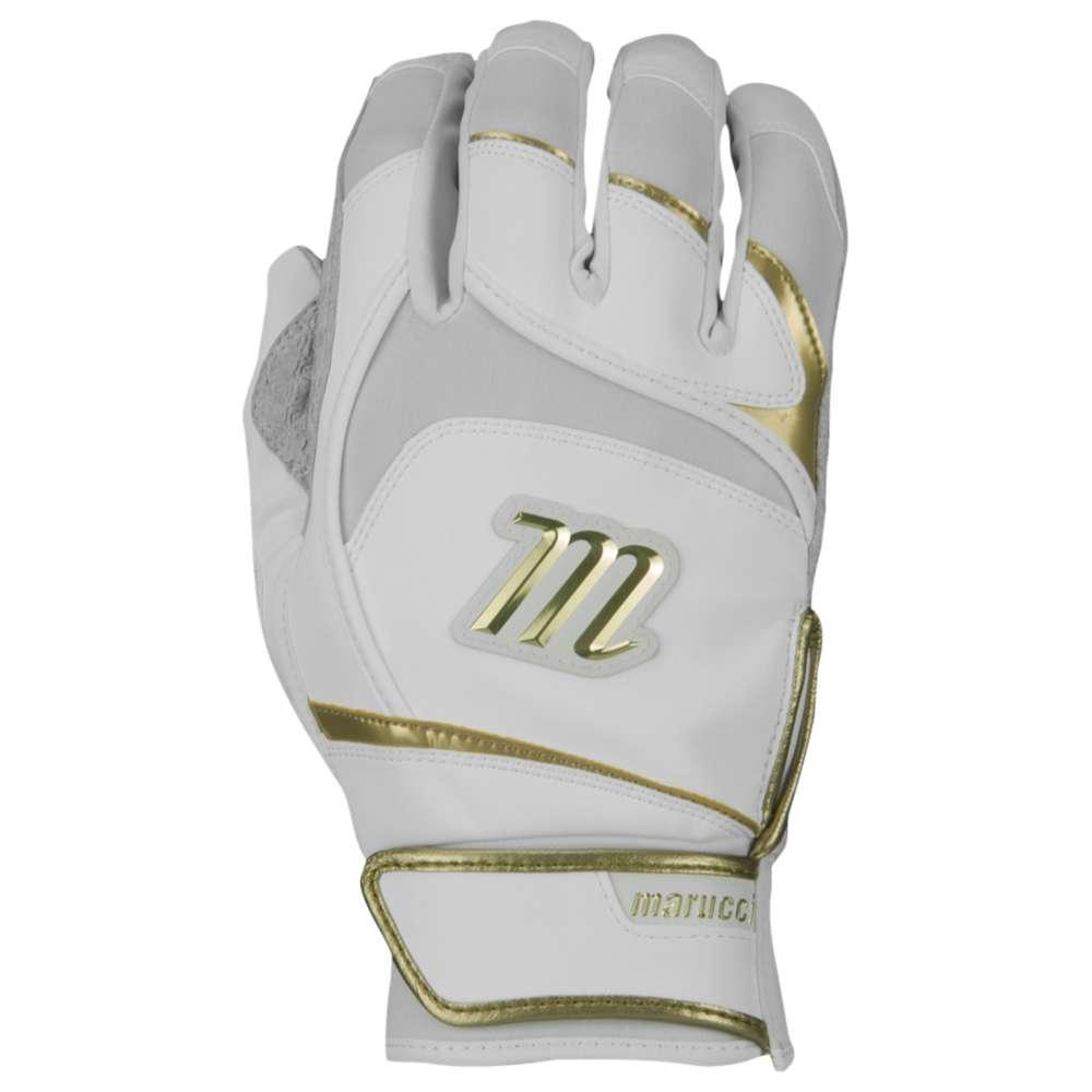 マルッチ メンズ 野球 グローブ【Pittards Signature Batting Gloves】White/Gold