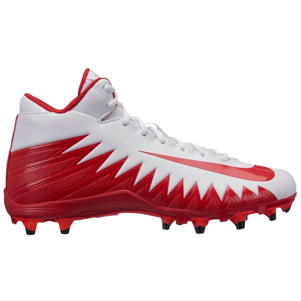 ナイキ メンズ アメリカンフットボール シューズ・靴【Alpha Menace Varsity Mid】White/University Red/Total Crimson