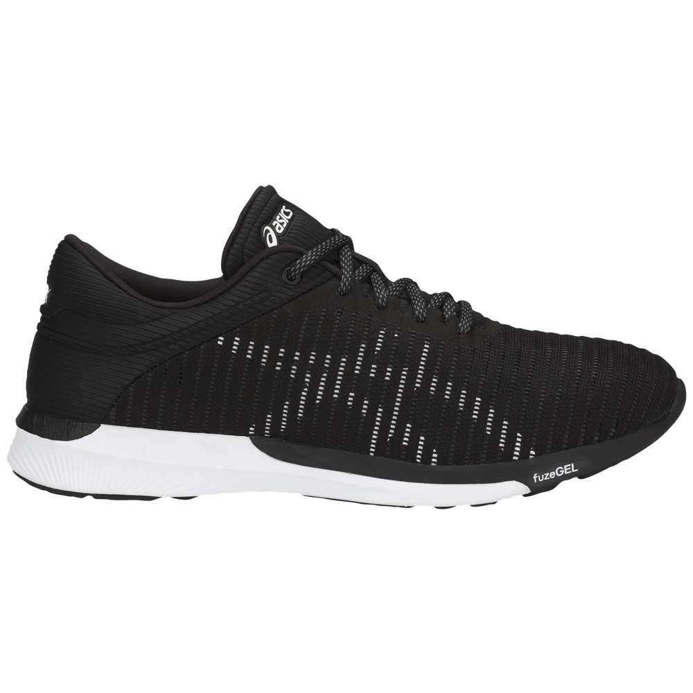 アシックス メンズ ランニング・ウォーキング シューズ・靴【fuseX Rush Adapt】Black/White/Dark Grey