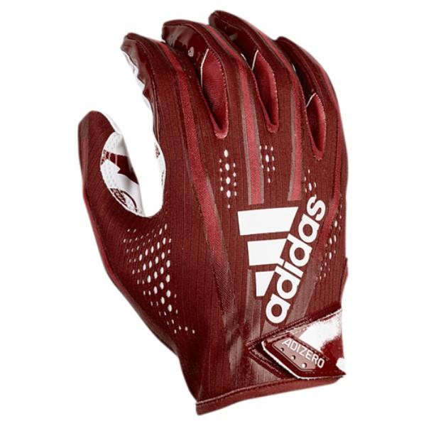 アディダス メンズ アメリカンフットボール グローブ【adiZero 5-Star 7.0 Receiver Glove】Maroon/White