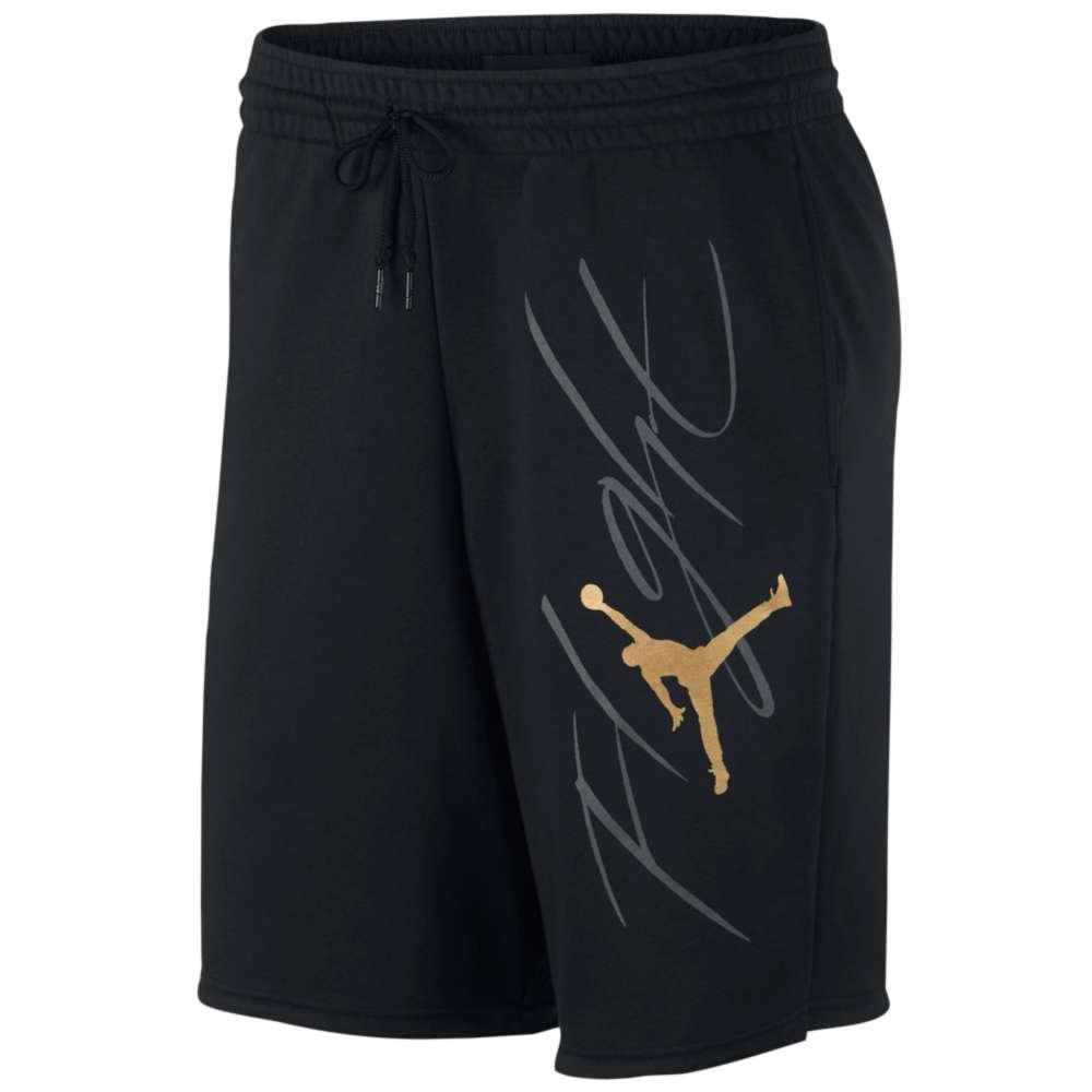 ナイキ ジョーダン メンズ バスケットボール ボトムス・パンツ【Jumpman Flight GFX Fleece Shorts】Black/Metallic Gold