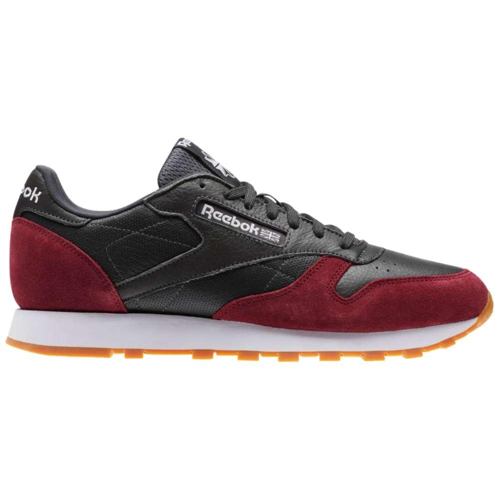 リーボック メンズ ランニング・ウォーキング シューズ・靴【Classic Leather】Coal/Urban Maroon/White/Gum