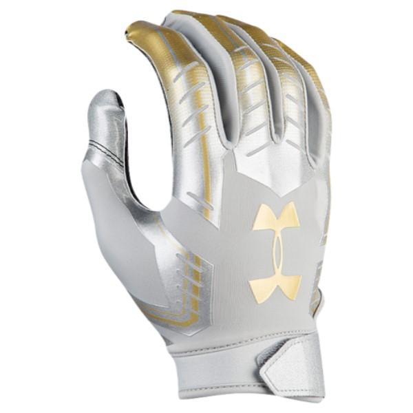アンダーアーマー メンズ アメリカンフットボール グローブ【F6 LE Football Gloves】White/Gold/Black