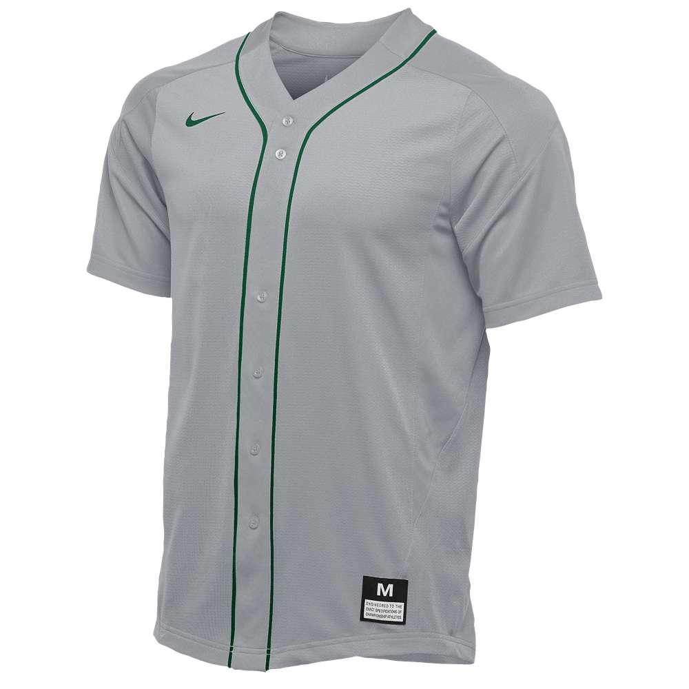 ナイキ メンズ 野球 トップス【Team Vapor Full Button Dinger Jersey】Blue Grey/Dark Green/Dark Green