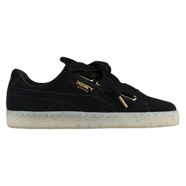 プーマ レディース バスケットボール シューズ・靴【Suede Heart】Black/Black