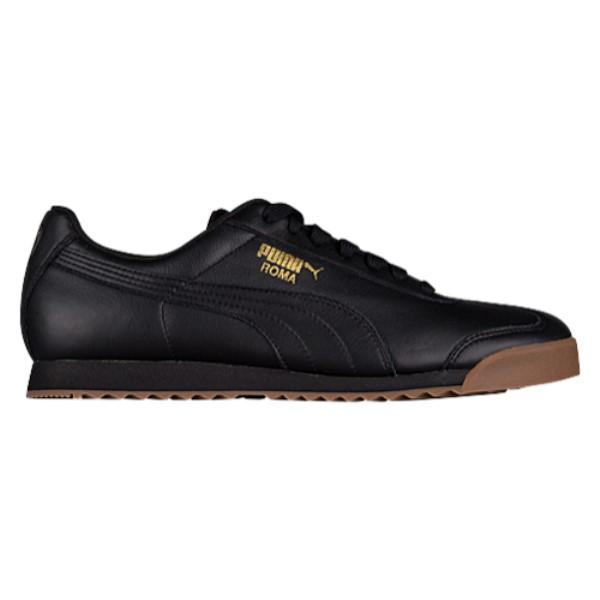 プーマ メンズ フィットネス・トレーニング シューズ・靴【Roma Basic】Black/Team Gold