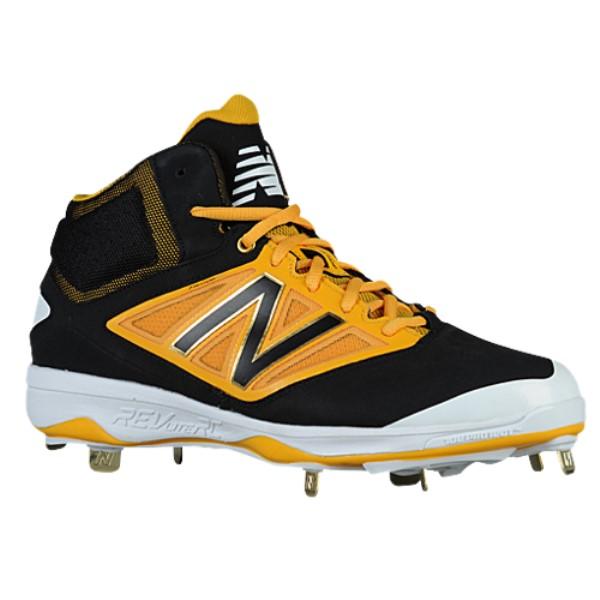 ニューバランス メンズ 野球 シューズ・靴【4040v3 Metal Mid】Black/Yellow