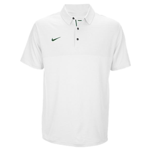 ナイキ メンズ トップス ポロシャツ【Team Sideline Dry Elite Polo】White/Gorge Green