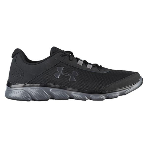 アンダーアーマー メンズ ランニング・ウォーキング シューズ・靴【Micro G Assert 7】Black/Rhino Grey