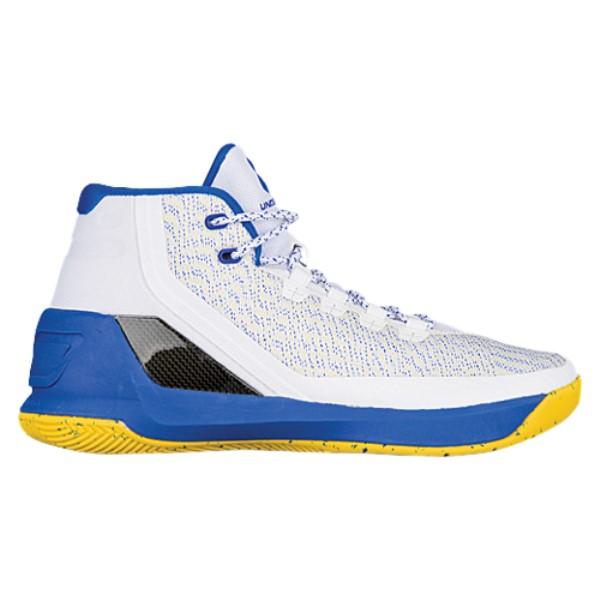 アンダーアーマー メンズ バスケットボール シューズ・靴【Curry 3】White/Ultra Blue