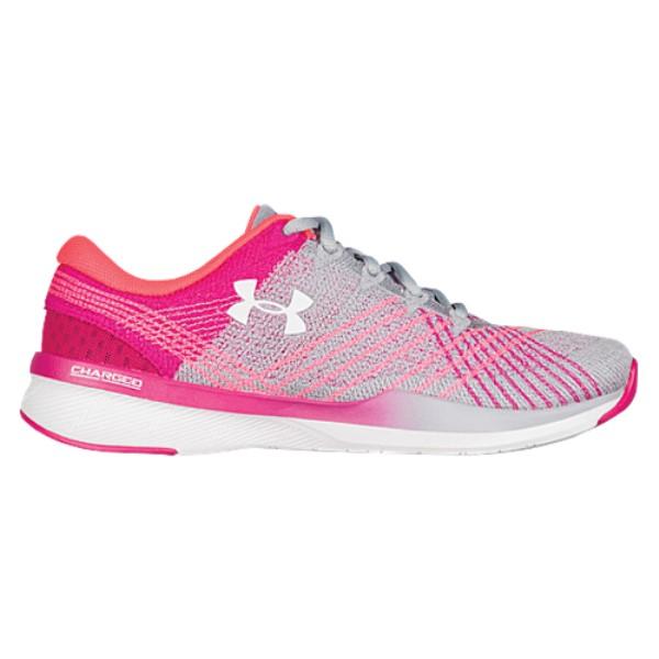 アンダーアーマー レディース フィットネス・トレーニング シューズ・靴【Threadborne Push TR】Overcast Gray/Tropic Pink/White