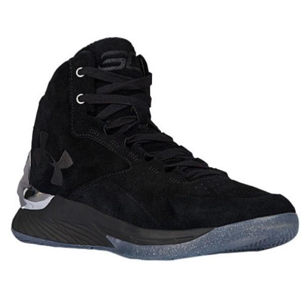 アンダーアーマー メンズ バスケットボール シューズ・靴【Curry 1 Lux Mid】Black/Metallic Silver/Black