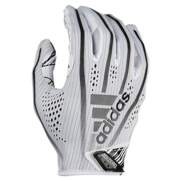 アディダス メンズ 5-Star アメリカンフットボール グローブ【Adizero メンズ 5-Star 7.0 7.0 Receiver Gloves】White/Black, 大河原町:ec8ae81f --- jpworks.be