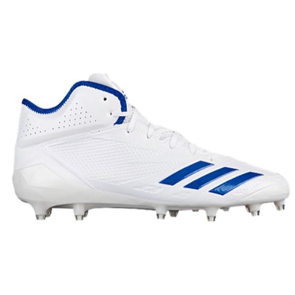 アディダス メンズ アメリカンフットボール シューズ・靴【adiZero 5-Star 6.0 Mid】White/College Royal/College Royal