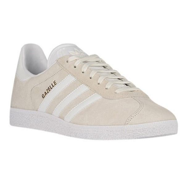 アディダス メンズ フィットネス・トレーニング シューズ・靴【Gazelle】White/White/Metallic Old Gold