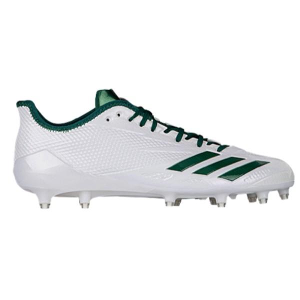 アディダス メンズ アメリカンフットボール シューズ・靴【adiZero 5-Star 6.0】White/Dark Green/Dark Green