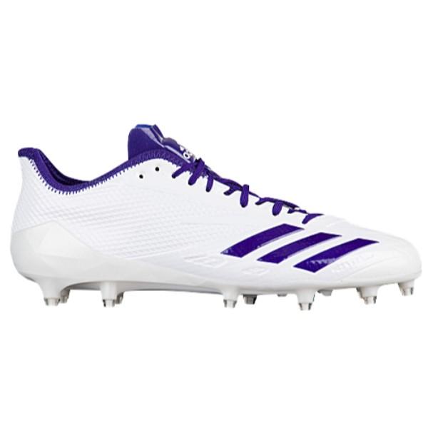 アディダス メンズ アメリカンフットボール シューズ・靴【adiZero 5-Star 6.0】White/College Purple/College Purple