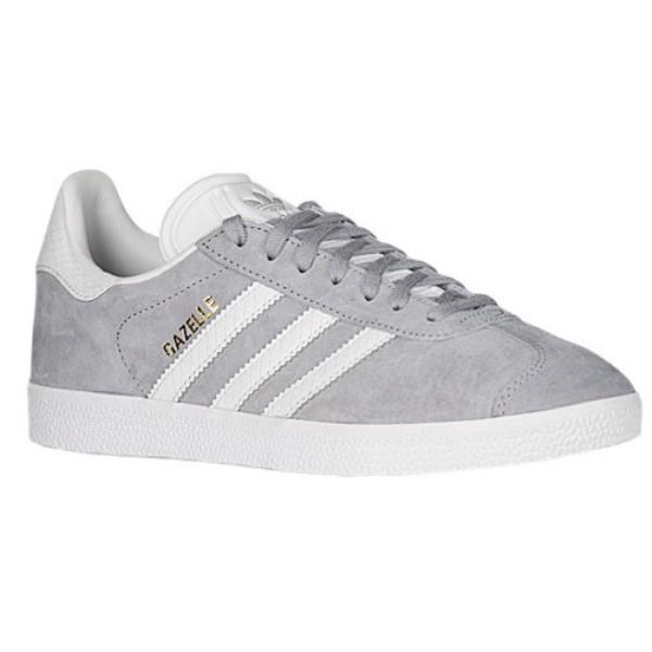 アディダス レディース フィットネス・トレーニング シューズ・靴【Gazelle】Mid Grey/White/Gold Metallic