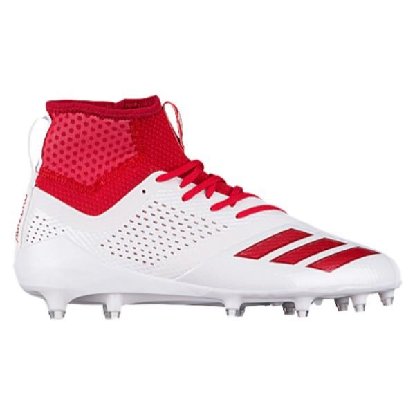 アディダス メンズ アメリカンフットボール シューズ・靴【adiZero 5-Star 7.0 Mid】White/Power Red/Power Red