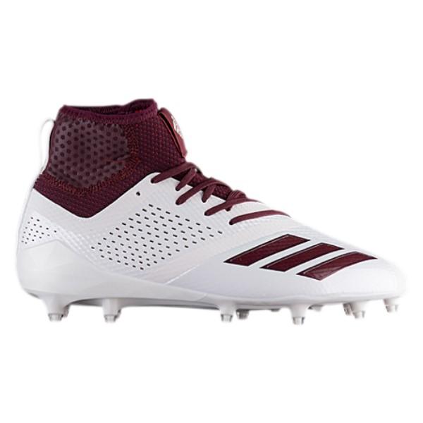アディダス メンズ アメリカンフットボール シューズ・靴【adiZero 5-Star 7.0 Mid】White/Maroon/Maroon