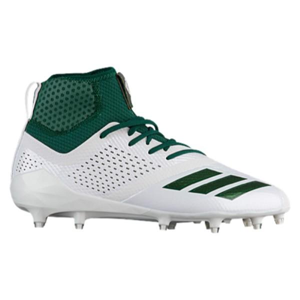 アディダス メンズ アメリカンフットボール シューズ・靴【adiZero 5-Star 7.0 Mid】White/Dark Green/Dark Green
