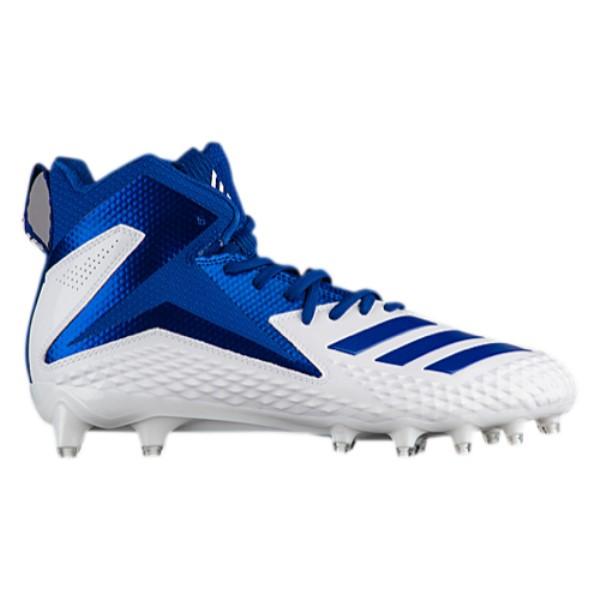 アディダス メンズ アメリカンフットボール シューズ・靴【Freak X Carbon Mid】White/Collegiate Royal/Collegiate Royal