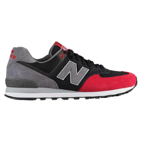 ニューバランス メンズ ランニング・ウォーキング シューズ・靴【574 Classic】Black/Team Red