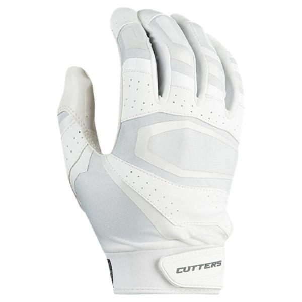 カッターズ メンズ アメリカンフットボール グローブ【Rev Pro 3.0 Solid Receiver Gloves】White